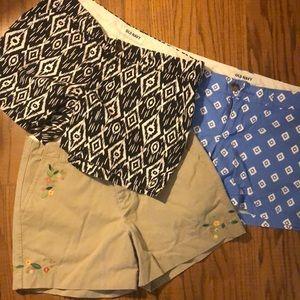 Lot of 3 adorable shorts! Old Navy & Gap